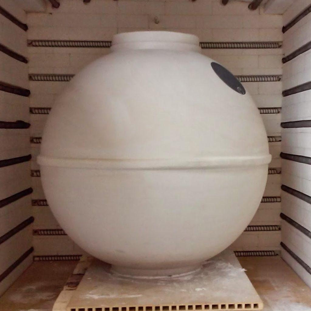 Clayver gres porcellanato vinificazione affinamento vino sfera