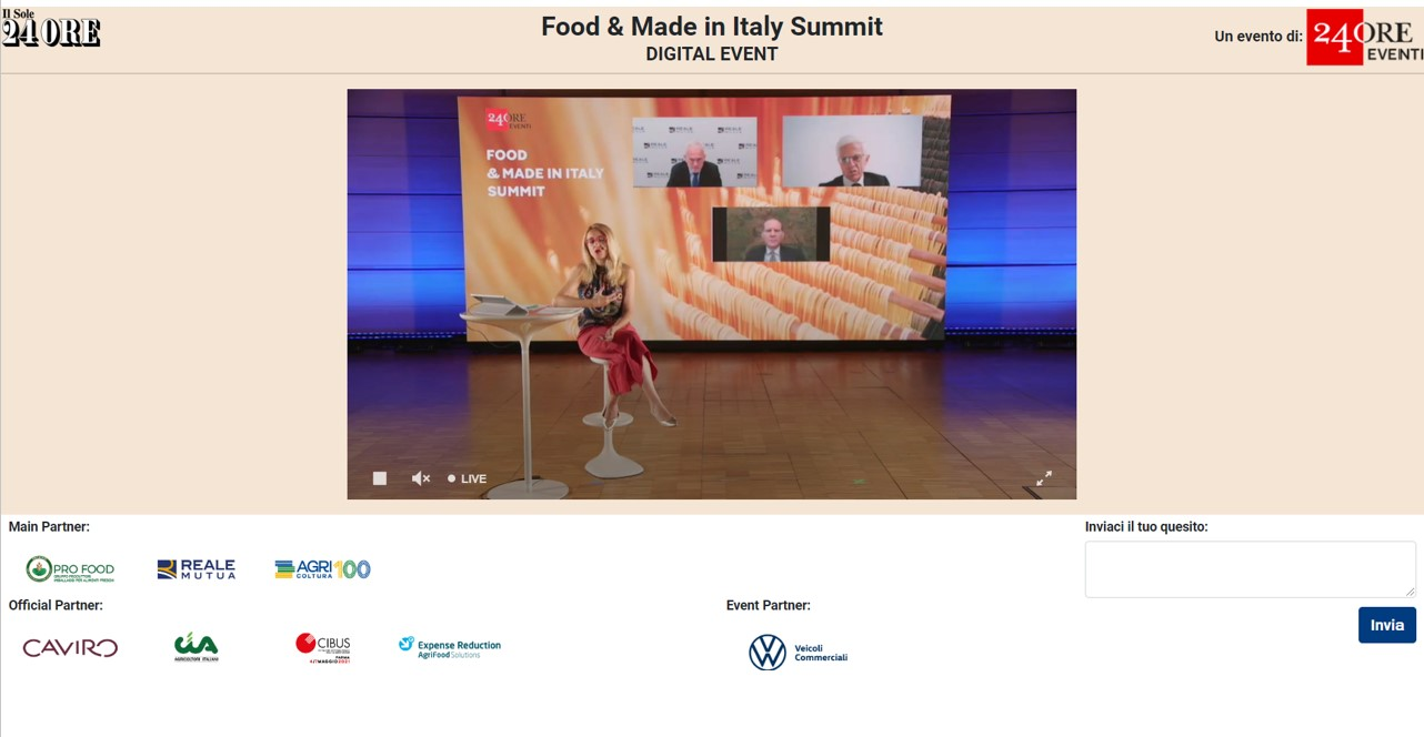Food & Made in Italy Summit: l'agroalimentare per