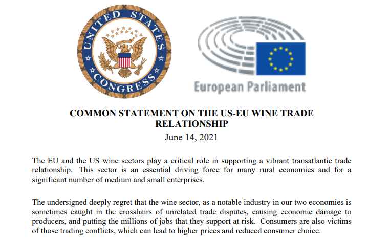 Dazi Usa sul vino Ue, tregua di 5 anni